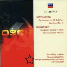 Shostakovich: Symphonies No. 13 & 15 - Solti/Chicago  (2007, CD NIEUW)2 DISC SET