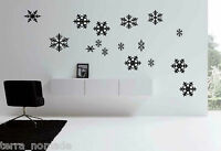 CHRISTMAS SNOWFLAKE WINDOW STICKERS STICKERS SHOP WINDOW XMAS DECALS PACK