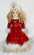 "Collector's Choice Series by DanDee 17"" Blond Hair Red Dress Porcelain Doll"
