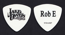 Jake Owen Robbie Emerson White Bass Guitar Pick - 2012 Tour
