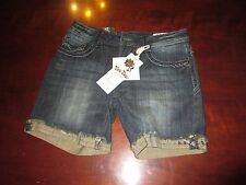 Rose Royce Premium $49 Denim jean Shorts Women's 27 5/6 NWT act. W 30 x  L 6 ""