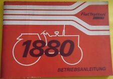 Fiat Trattori Schlepper 1880 Betriebsanleitung