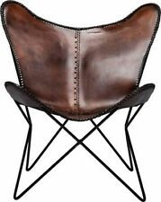 Brown Leather Butterfly Arm Chair Butterfly Leather Armchair Butterfly Chair