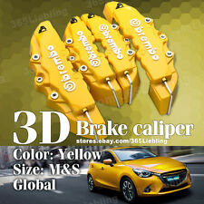Yellow 3D Brake Caliper Covers Universal Brembo Style Disc Front Rear Kits AA70