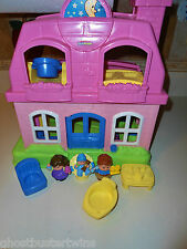FISHER PRICE LITTLE PEOPLE FAMILY HAPPY SOUNDS DOLLHOUSE HOUSE FIRST HOME LOT