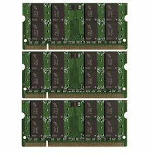 BULK LOT 6GB 3x2GB DDR2 PC2-5300 667MHz Memory SODIMM RAM for Laptops Notebooks