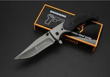 New Browning 377 Tactical Folding Pocket Knife 440 Blade Camping Survival Knife
