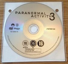 DVD: PARANORMAL ACTIVITY 3 - Rated 15 - disc only - replacement