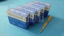 500 STERILE SURGICAL CARBON STEEL BLADES #22 WITH FREE SCALPEL KNIFE HANDLE #4