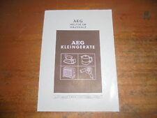 Prospekt Sales Brochure AEG Haushaltsgeräte Kleingeräte Leuchtofen Standofen