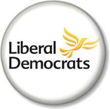 "Liberal Democrats 1"" Pin Button Badge General Election Lib Dems Political Party"
