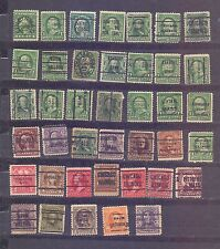 USA - 40 PRECANCELLED/USED STAMPS AS SHOWN - VERY OLD - C 118