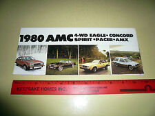1979 American Motors AMX Eagle 4 WD Pacer Spirit Concord Sales Brochure