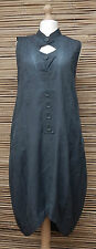 LAGENLOOK*KEKOO*BEAUTIFUL AMAZING QUIRKY LONG TUNIC/DRESS*DUSTY INK*Size 42-44