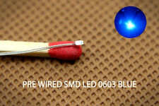 T0603B 20pcs Pre-soldered micro litz wired leads BLUE SMD Led 0603 NEW