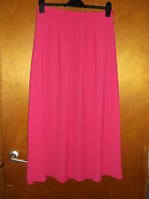 "M&S Fully Lined Part-Elasticated Waist Long Chiffon Skirt UK12 L36"" Pink BNWT"