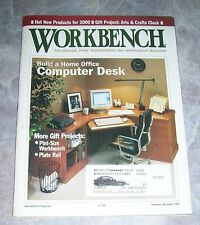 Workbench Magazine Build a Computer Desk Arts & Crafts Clock Nov/Dec 1999