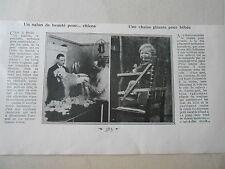 Un salon de beauté pour chiens à Berlin - Une chaise pliante pour bébés 1926