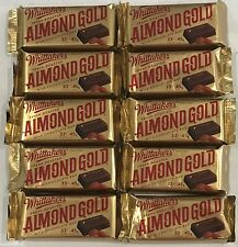 910445 10 x 45g BARS OF WHITTAKER'S FRESH ROASTED ALMOND GOLD MILK CHOCOLATE, NZ