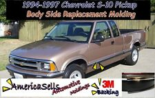 1994-1997 CHEVROLET S10 BLAZER BODY SIDE CHROME MOLDING OEM REPLACEMENT TRIM