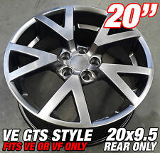 1 x 20x9.5 inch VE GTS HYPER BLACK Alloy Wheel HOLDEN COMMODORE VE VF HSV MALOO