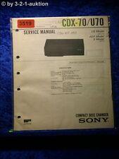 Sony Service Manual CDX 70 / U70 (#3519)