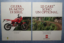 MOTOSPRINT990-PUBBLICITA'/ADVERTISING-1990- GILERA RC 125 (2 fogli)