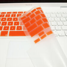 "FULL ORANGE Silicone Keyboard Skin Cover  for Old Macbook White 13"" (A1181)"