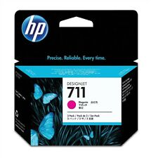 HP 711 (3 Pack) Magenta Ink Cartridge (29ml) for Designjet T120/T520 Large
