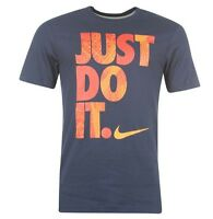 Nike Just Do It Herren Shirt T-Shirt Blau Orange Größe S, M, L oder XL Neu