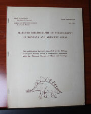 Bibliography of Stratigraphy in Montana MT 1966 PB geology -listing of resources