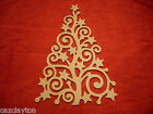 Christmas Tree Decorative Wall Art Snow Winter Wooden Craft Shapes