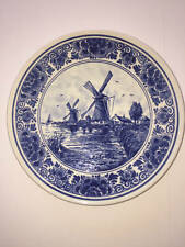 """Delft Blauw Hand Painted Windmill Plate Made in Holland 7"""""""