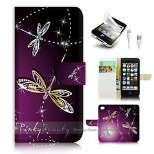 iPhone 5 5S Flip Wallet Case Cover! P1844 Dragonfly