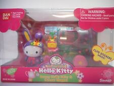 NEW Bandai Hello Kitty Garden Party Bunny Flower Wagon Toy