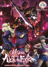 JAPAN DVD Anime CODE GEASS Akito The Exiled Complete OVA (Epi. 1-5 End) Eng Sub