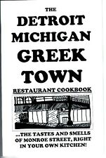 "GREEK ""town"" RESTAURANT COOKBOOK from Detroit Michigan"