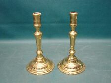 Pair of Heavy Solid Brass Virginia Metalcrafters Candlesticks