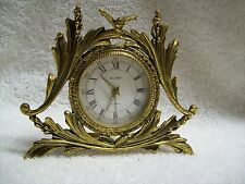 Vintage Globe Gilded Brass Wind-Up Alarm Clock with Bird Made in Germany