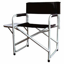 Aluminium noir pliable administrateurs chaise camping extérieur jardin avec côté table