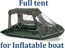 Full tent for inflatable dinghy boat