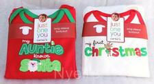 Carters 3 MONTH Long Sleeve Body Suit My First Christmas My Auntie Knows Santa