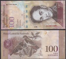 Venezuela 2012/2015 Hundred 100 Bolivares UNC