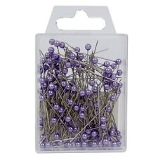 """Pearl head pins Lilac Lavender florists corsage craft buttonhole 1.5"""" Box of 144"""