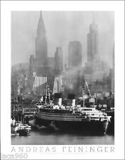Andreas Feininger Queen Elizabeth New York City 1958 Photo Poster OOP