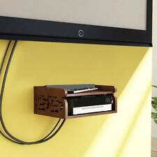 Onlineshoppee Wooden Beautiful Design Set top box Wall Shelf Colour-Brown