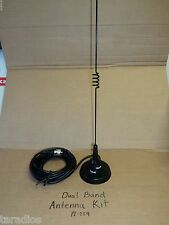DUAL BAND MAGNET MOUNT ANTENNA KIT W/ pl-259 UHF VHF KENWOOD Brand NEW Quick Sh