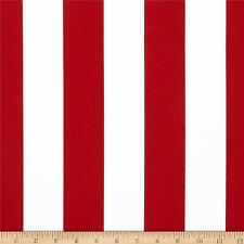 """Red and White 2"""" Deck Stripe OUTDOOR Fabric, Red Upholstery Fabric by the Yard"""