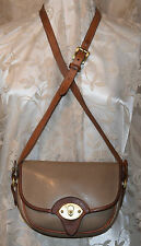 DOONEY & BOURkE ALL LEATHER VINTAGE HANDBAG SMALL CAVALRY TROOPER TAUPE TAN