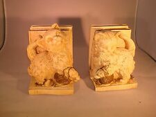 Vintage Cat Bookends Collectible Universal Statuary Corp Chalkware Marotta 1966